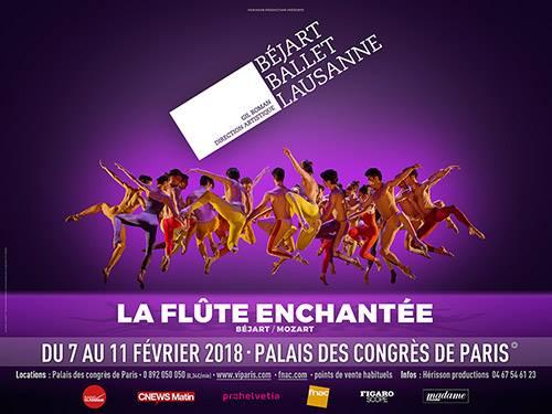 La flûte enchantée au Palais des Congrès de Paris par le Béjart Ballet Lausanne: