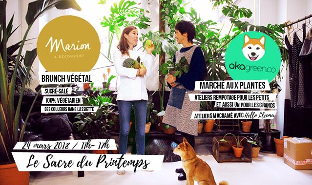 Le Sacre du printemps – Brunch, marché aux plantes, marché des créateurs à Éléphant Paname !