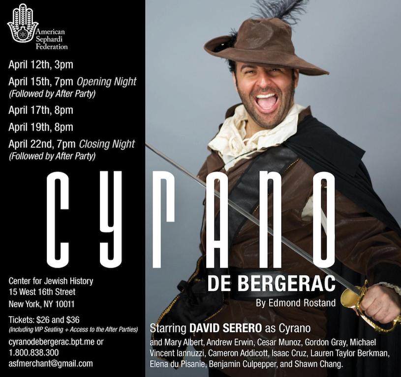 David Serrero incarnera Cyrano de Bergerac à New-York