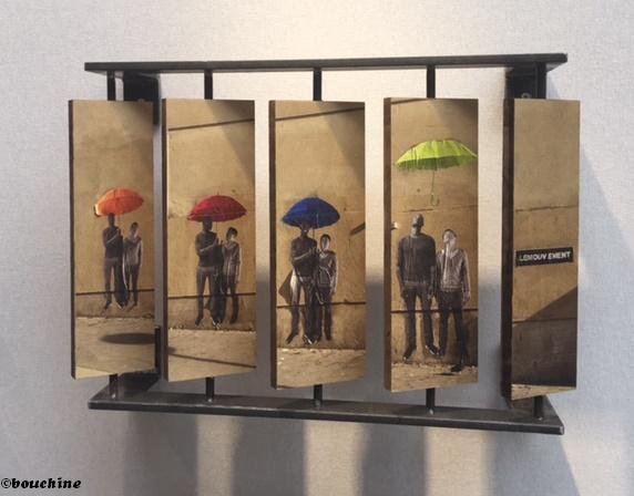 Et notre second favori de l'Urban Art Fair est …le Mouvement