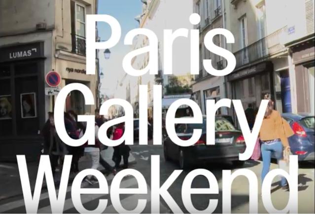 Inauguration du PARIS GALLERY WEEKEND 2017
