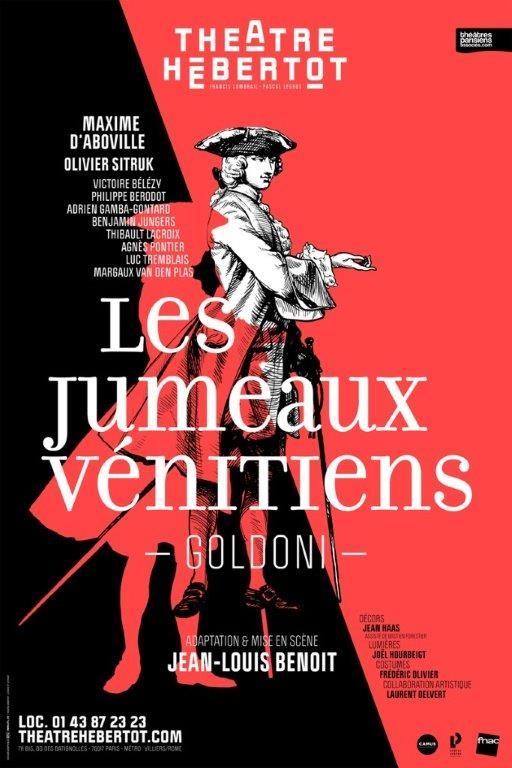 Les Jumeaux Vénitiens de Carlo Goldoni au Théâtre Hébertot