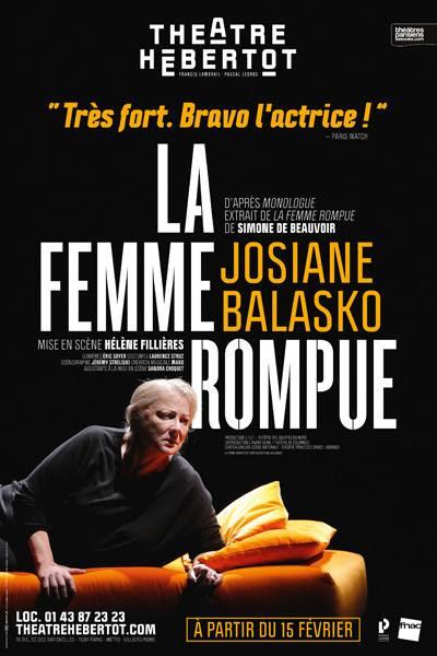 La Femme Rompue au Théâtre Hébertot