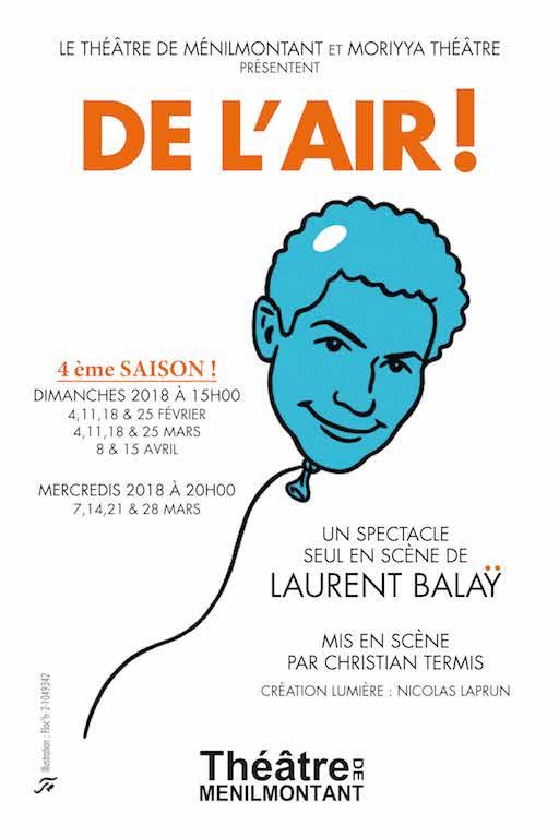 Laurent Balaÿ dans De l'Air ! au Théâtre de Ménilmontant.