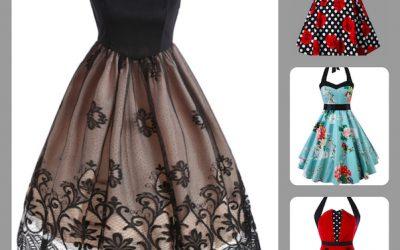 Imprimé floral: robes vintage et maillots de bain rétro