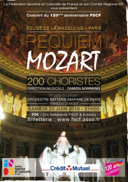 Pour son 120ème anniversaire, la Fédération Sportive et Culturelle de France a convié Mozart…