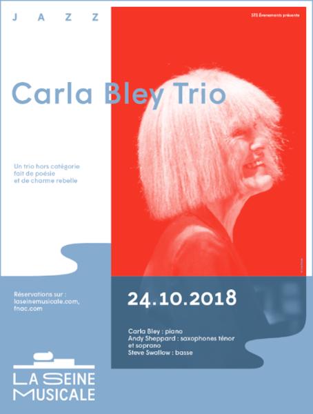 La Seine Musicale accueille Carla Bley Trio