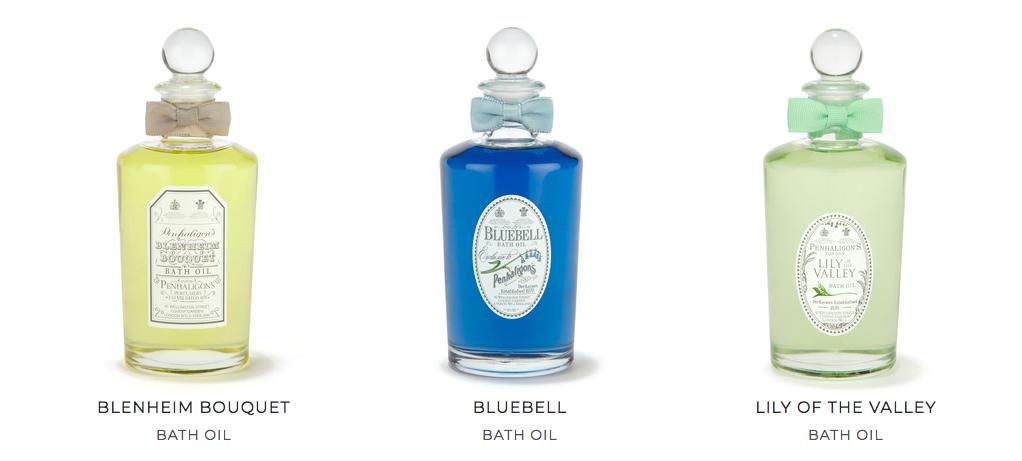 Penhaligon's huiles de bain aux senteurs parfumées zenitudeprofondelemag.com