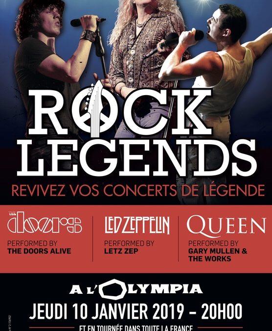 ROCK LEGENDS À L'OLYMPIA : UN CONCERT EXCEPTIONNEL