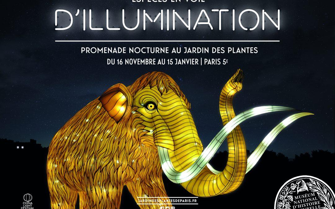 1er Festival des Lumières au Jardin des Plantes de Paris
