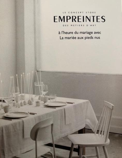 LA MARIÉE AUX PIEDS NUS DÉBARQUE CHEZ EMPREINTES PARIS
