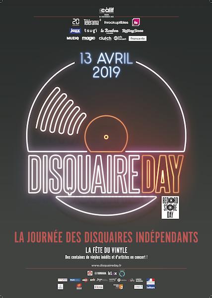 9ème édition du DISQUAIRE DAY le 13 avril 2019