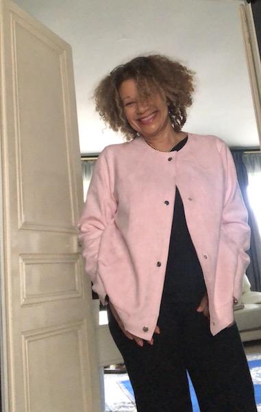 Blouson en suédine rose Bleu Bonheur - Zenitude Profonde le mag.com