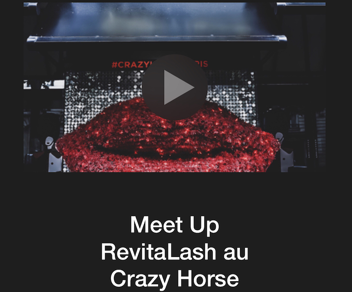 Meet Up RevitaLash au Crazy Horse