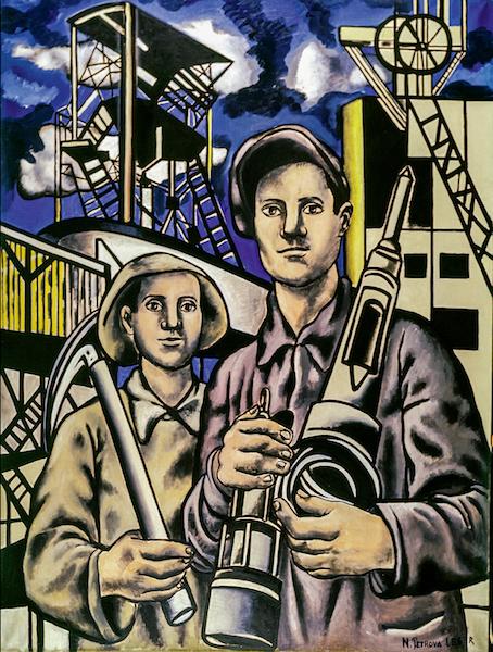 Nadia-Léger-Les-mineurs-1953-©-ADAGP