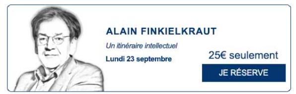 Rencontre du Figaro Alain Finkielkraut
