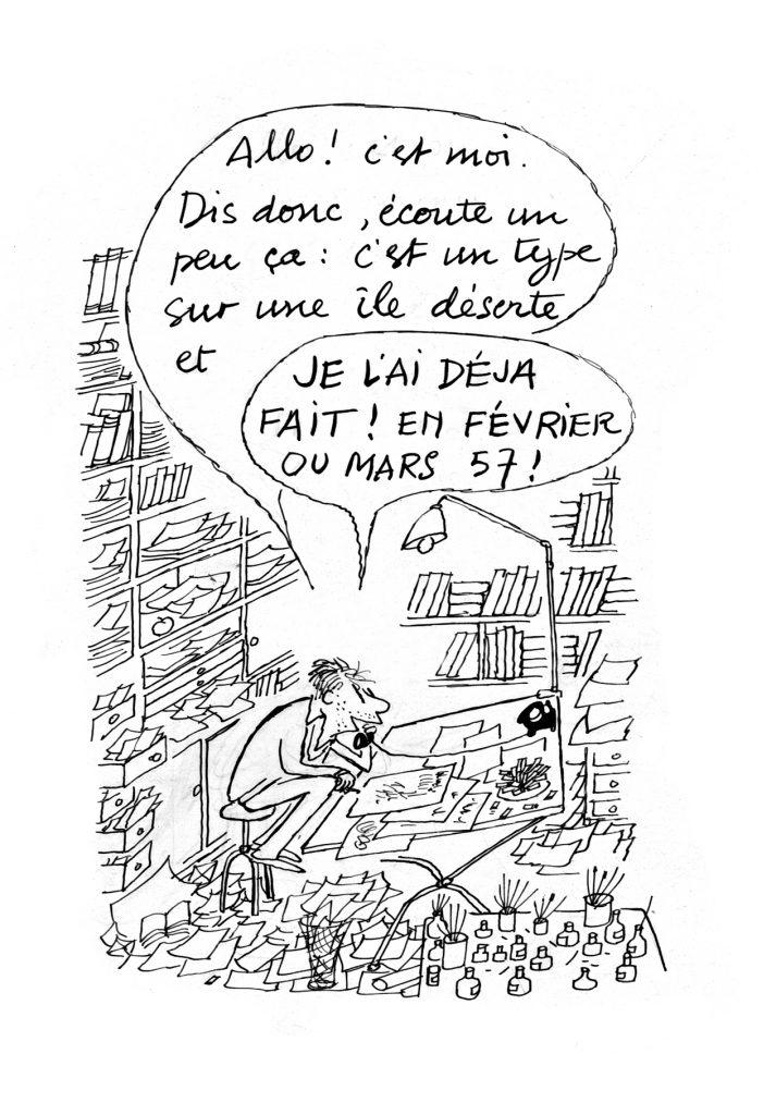 Dessin paru dans Paris Match en 1962 Sempé, itinéraire d'un dessinateur d'humour, éditions Martine Gossieaux © J.J. Sempé