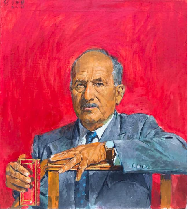 Graham Sutherland (1903-1980), Portrait du docteur Arpad PLESCH (1889-1974), huile sur toile, 78 x 70 cm, signé et daté en haut à gauche « GS 61-62 », provenance : Famille Plesch / Galerie Orsay Paris