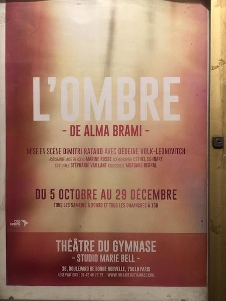 L'Ombre d'Alma Brami au Théâtre du Gymnase