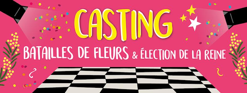 Casting des comédiennes des Batailles de Fleurs du 136ème Carnaval de Nice «Roi de la Mode » !