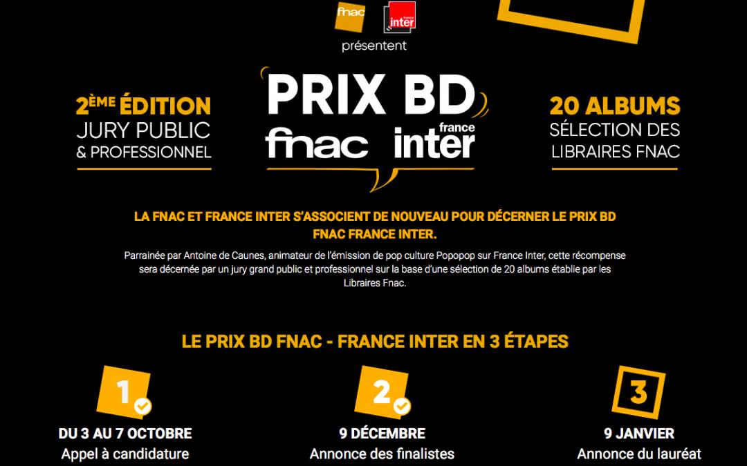 LE PRIX BD FNAC-FRANCE INTER 2020…