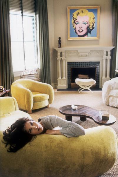 Stephanie Seymour chez elle à New York en 1997