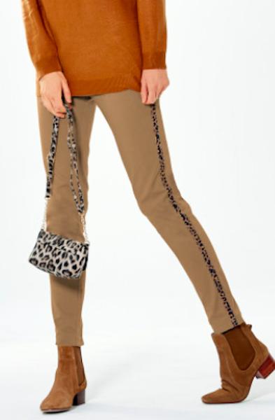 pantalon bandes leopard bleu bonheur - zenitudeprofondelemag.com
