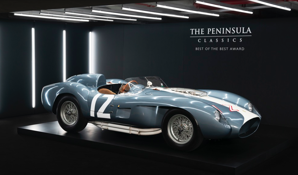 1958 Ferrari 335 S Spyder was named winner of The Peninsula Classics Best of the Best Award 2019 at a ceremony held at The Peninsula Paris