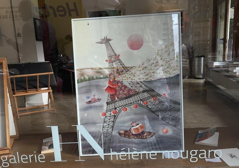 Découverte de la jolie Galerie où Hélène Nougaro met Paris en images
