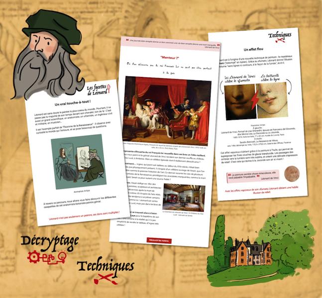 Parcours pédagogique - clos lucé  Léonard de Vinci s'invite chez vous-zenitudeprofondelemag.com