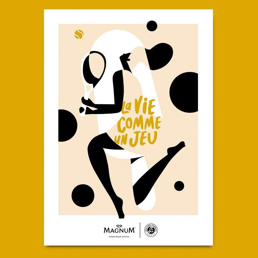MAGNUM - La Vie comme un jeu - Affiche Quentin Monge -zenitudeprofondelemag.com