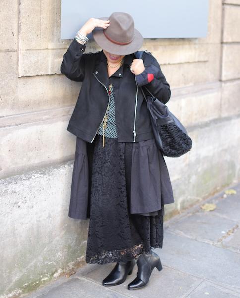Mon look d'Automne Western Chic Bleu Bonheur