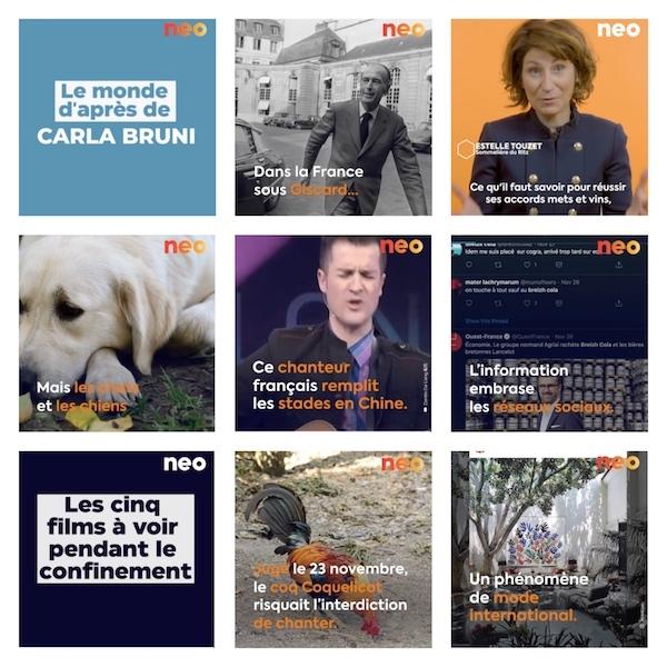 neo LE NOUVEAU MEDIA 100% VIDEO ARRIVE SUR WEB ET LES RÉSEAUX SOCIAUX