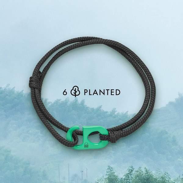 Un bracelet 100% écolo et un projet de plantation d'arbres