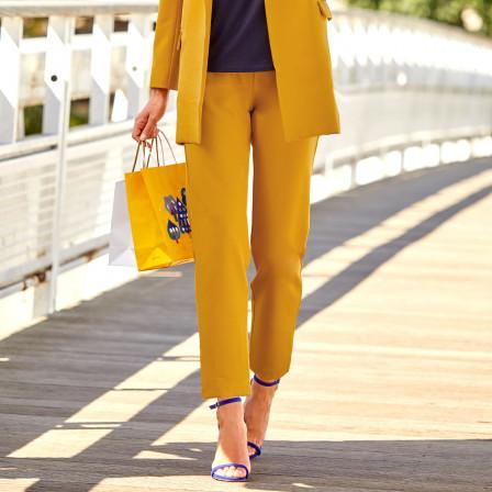 pantalon jaune BLEU BONHEUR Collection Printemps- Été 2021  zenitudeprofondelemag.com