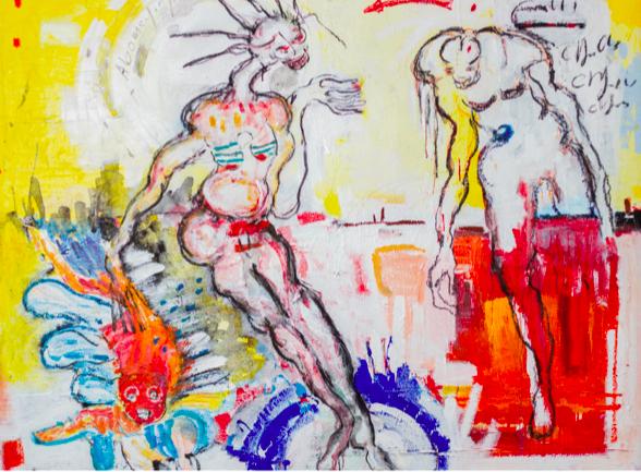 © Placide Tossou Charles Sans titre, 2021, 137 x 137 cm Courtesy of Dominique Zinkpè