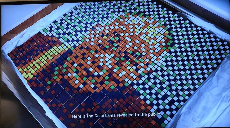 Rubik's Dalaï Lama - Invader - Artcurial - Zenintudeprofondelemag.com