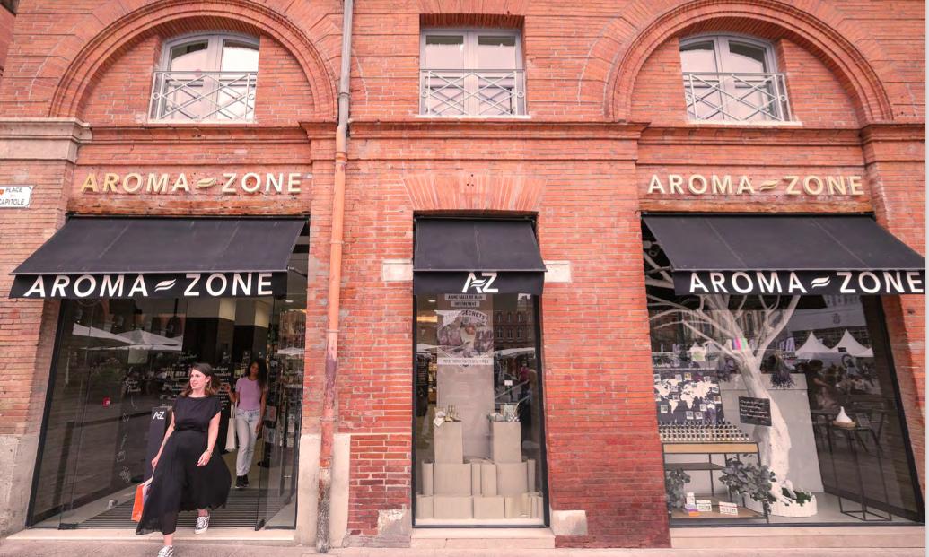 AROMA-ZONE a ouvert aujourd'hui sa nouvelle boutique-atelier au coeur de Toulouse (Place du Capitole)