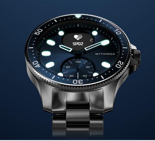 WITHINGS lance ScanWatch Horizon, la montre connectée au design « diver » pour plonger au coeur de sa santé